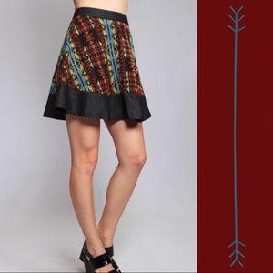 Umgee High Waist Festival Circle Mini Skirt